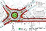 Ausbau Grüne Straße: Kreisverkehr Grüne Straße / Kuhlenstraße (K 347) / An der Hössen