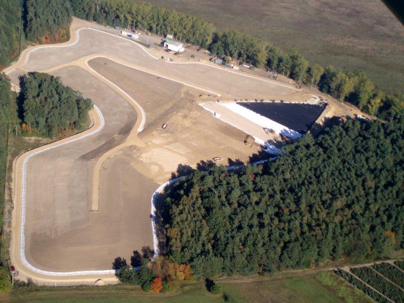 Luftbild der Deponie Strüwe