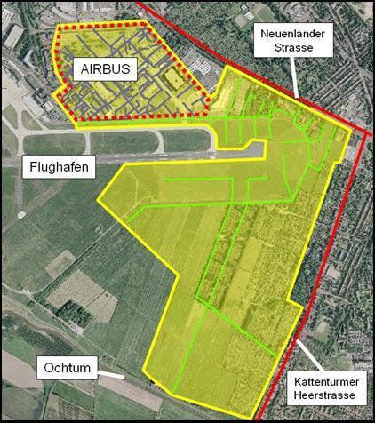 Oberflächenentwässerung Airbus